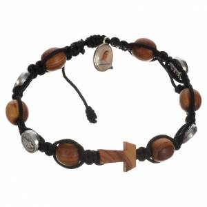 Tau cross bracelet with medals s2