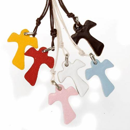Tau Pendant in leather, various colours s1