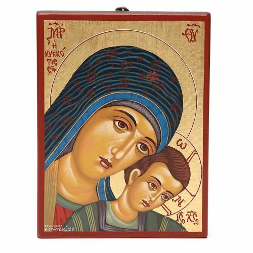 Tavola dipinta 18,5x24,5 cm Madonna di Kiko s1