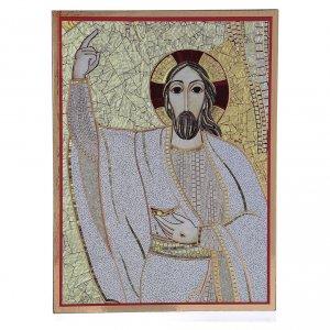Tavola stampa Rupnik Cristo Risorto 10x15 cm s1