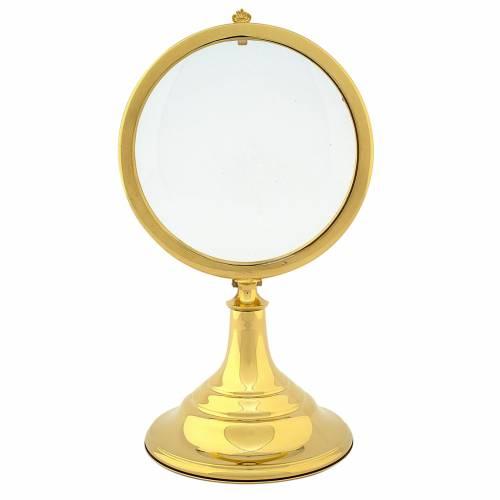 Teca Ostia Magna ottone dorato h28 cm s1
