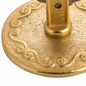 Teca per ostia magna ottone h 14 cm con angioletto s3