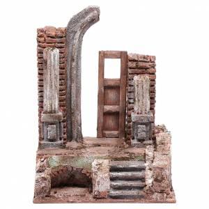 Tempio porta e mezzo arco 25x20x15 cm s1