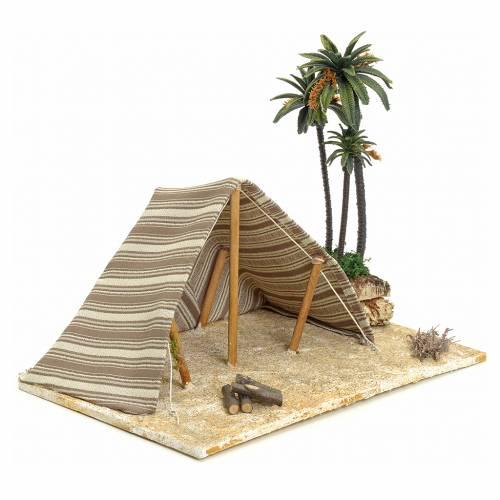 Tente arabe et palmiers pour crèche 22x32x24 s2