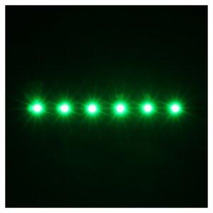 Tira de 6 LED cm. 0.8x8 cm. verde Frisalight s2