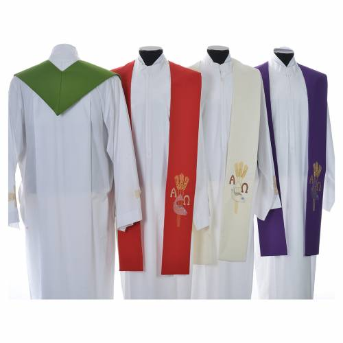 Étole de prêtre alpha oméga s2