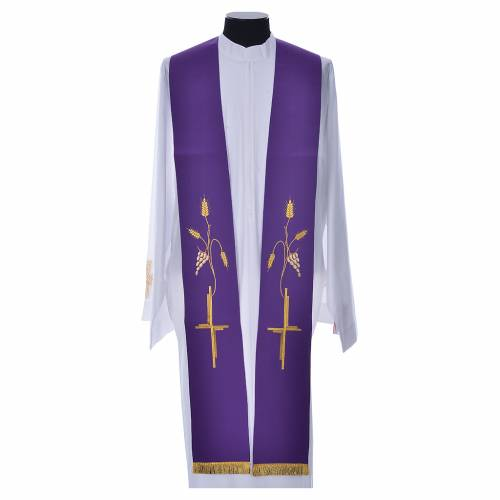 Étole en polyester avec croix s4
