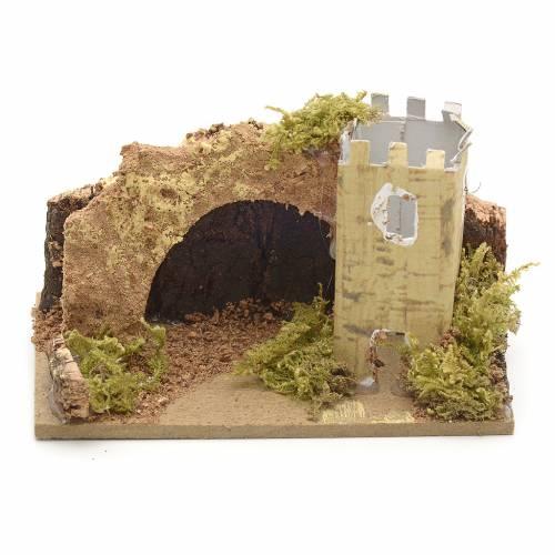 Tour avec voûte en miniature pour crèche 10x6 s1