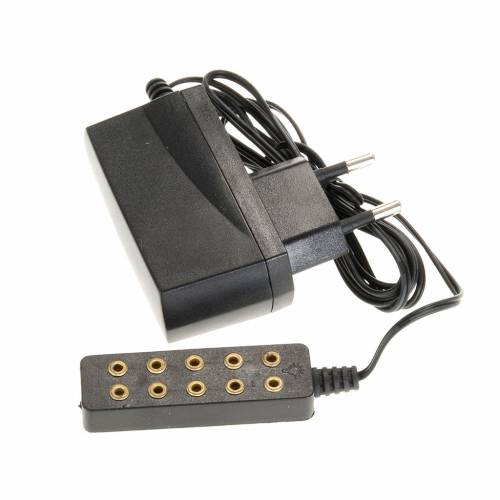 Transformador eléctrico 5 enchufes luz fija s1