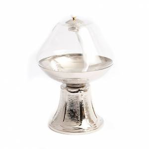Transparent glass lamp on nickel base s3