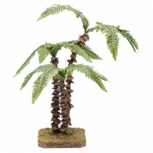 Tripla palma su base unica - foglie verdi modellabili s1