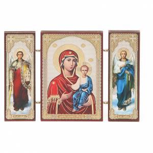 Triptych Russia Smolenskaya application 13x8cm s1