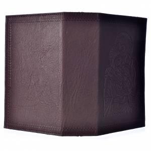 Étui liturgie heures 4 vol. cuir brun foncé Sainte Famille s2