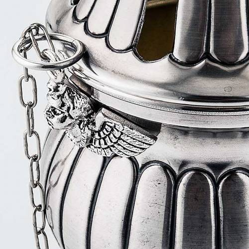 Turibolo e navetta cesellato decorato s4
