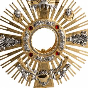 Two tone monstrance with putti and red stones s2