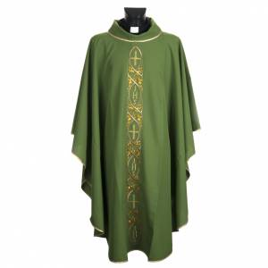 Chasuble liturgique avec broderie IHS s1