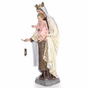 Statuen aus gemalten Holz: Unsere Liebe Frau auf dem Berge Karmel 140cm, fein Finish