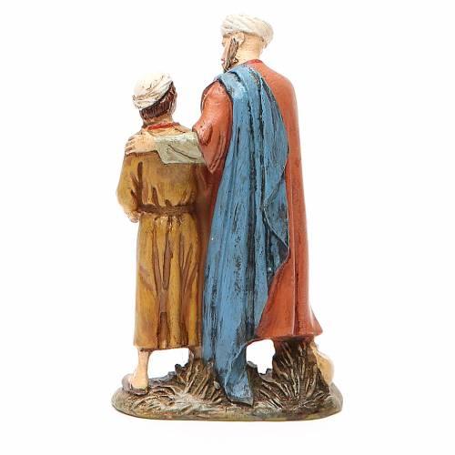 Uomo e bambino con colomba resina dipinta cm 10 Linea Landi s2