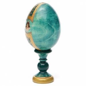 Uovo icona Russa Vladimirskaya h tot. 13 cm stile Fabergé s3