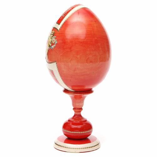 Uovo legno découpage russa Giglio Bianco tot h 20 cm stile Fabergè s3