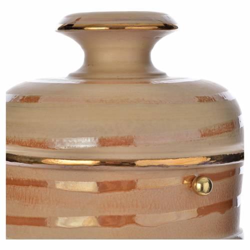 Urna cineraria ceramica color terra s2
