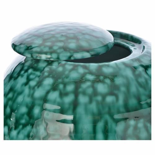 Urna cineraria porcelana esmaltada mod. Murano Verde s2