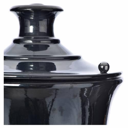 Urne funéraire céramique couleur gris anthracite s2