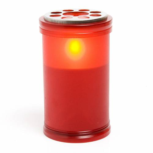 Vela LED roja a pilas 1
