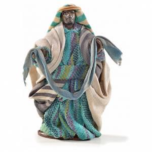Venditore con stoffe 6 cm presepe Napoli stile arabo s1