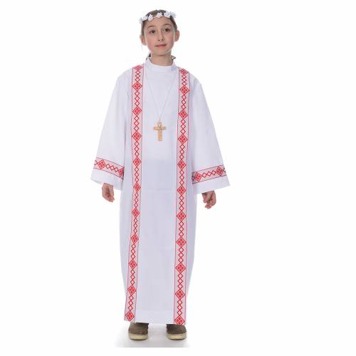 Vestido con bordes para Primera Comunión s1