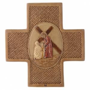 Vía Crucis 15 estaciones de piedra 22,5cm Bethléem s6