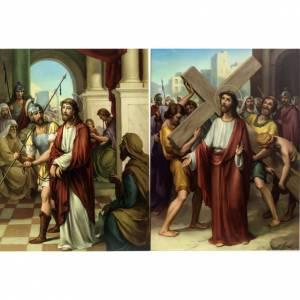 Via Crucis 15 stazioni stampa legno s3