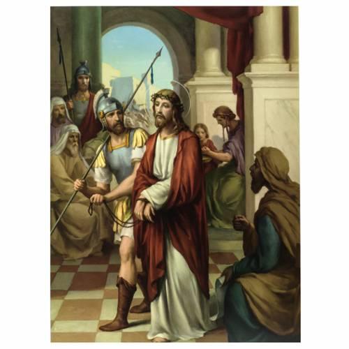 Via Crucis 15 stazioni stampa legno s1
