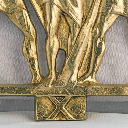 Vía Crucis latón fundido 17x20 cm - 15 estaciones s3