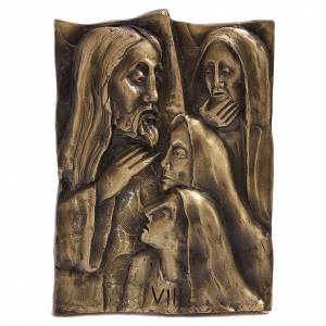 Via Crucis ottone fuso bronzo naturale 14 stazioni s1