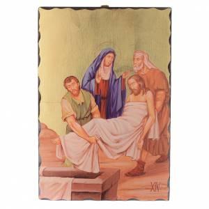 Via Crucis quadretti serigrafati 30x20 cm legno s14