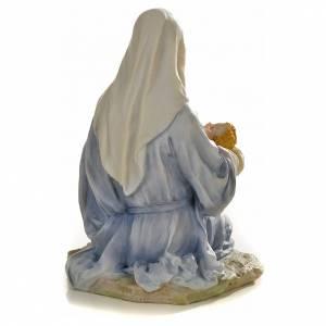 Vierge à l'enfant 15cm statue résine peinte s3