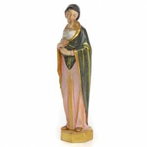 Vierge à l'Enfant 30 cm pâte à bois finition spéciale s2
