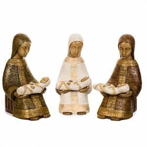 Crèches Monastère de Bethléem: Vierge Nativité Paysanne avec enfant