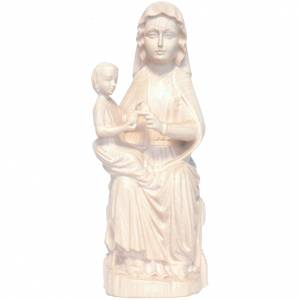 Imágenes de madera natural: Virgen Mariazell de madera natural patinada de la Val Gardena