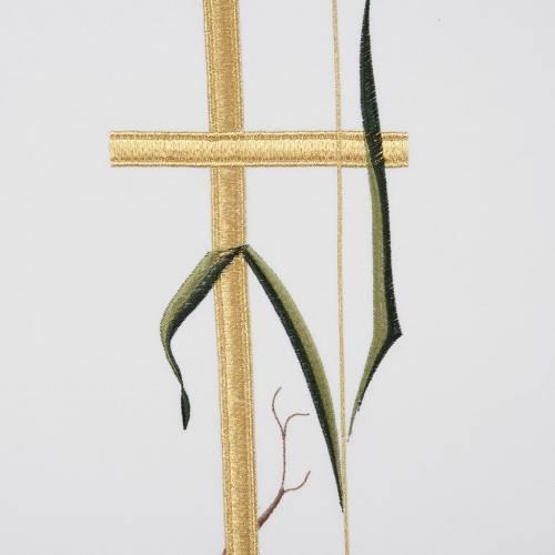 Voile de lutrin croix longue épi couleurs liturgiques s3