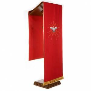 Voiles de lutrin: Voile de lutrin rouge Saint Esprit et rayons