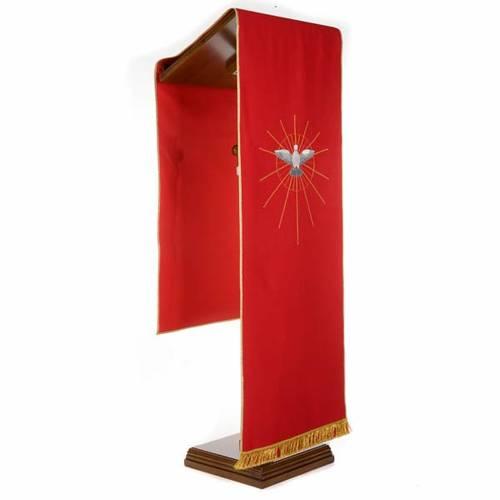 Voile de lutrin rouge Saint Esprit et rayons s2