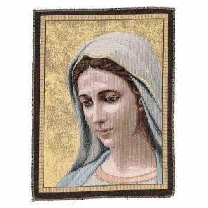 Wandteppiche: Wandteppich Gottesmutter von Medjugorje 30x45cm