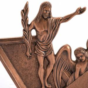 Way of the Cross: Way of the cross in copper plated bronze and wood, 15 stations