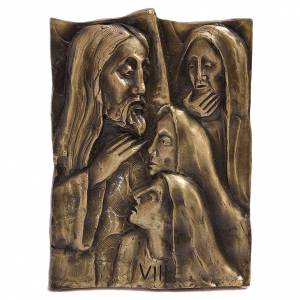 Way of the Cross melted brass & natural bronze 14 stations s1