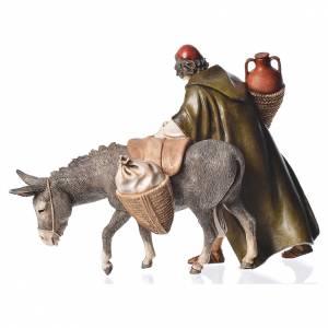 Wayfarer with donkey, nativity figurine, 13cm Moranduzzo s2