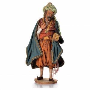 Krippenfiguren von Angela Tripi: Weißer heiliger König 18cm Terrakotta, A. Tripi
