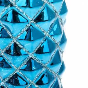 Weihnachtskerzen: Weihnachtskerze hell Blau