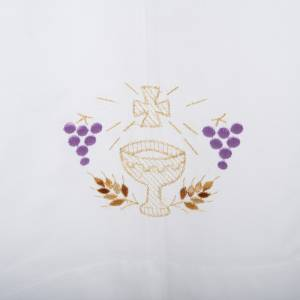 Albs: White alb in cotton, chalice, grapes, ears of wheat